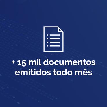 +15 mil documentos emitidos todo mês