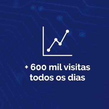 + 600 mil visitas todos os dias